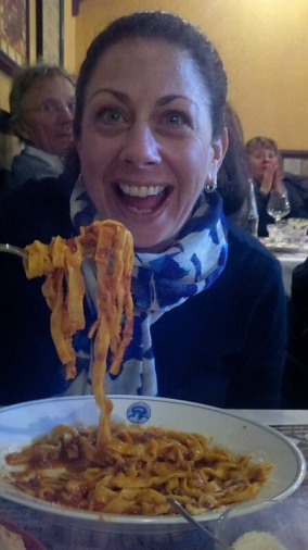 Dining on pasta in Rome!