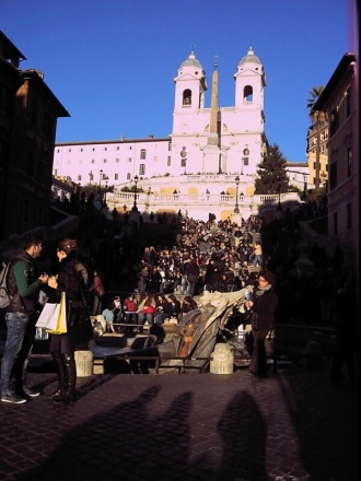 My grand view of The Spanish Steps.