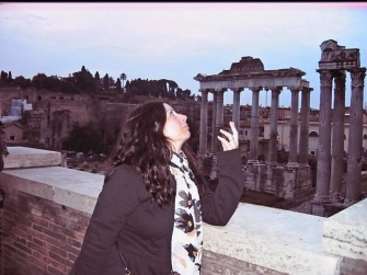 My Roman pose overlooking the Roman Forum.