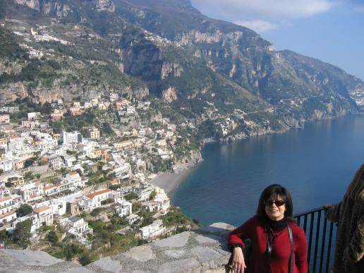 Mamabella overlooking Positano, February, 2008.