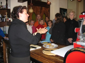 February, 2008--Cooking class in Cetara.