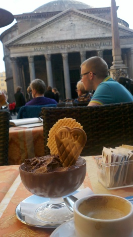 Rome--gelato and the pantheon